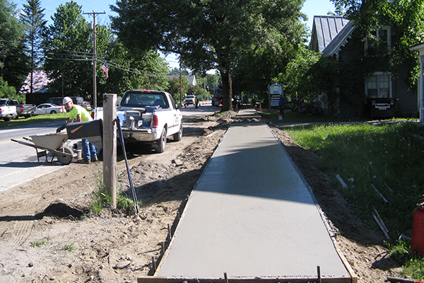 File photo: Jeff Knight, past Waitsfield sidewalk construction