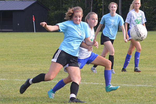 Varsity girls' soccer hosted their last preseason scrimmage against Colchester High School on Tuesday, August 27