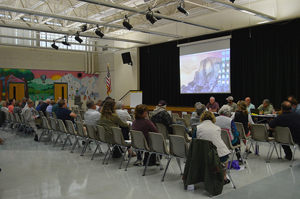 Duxbury residents attended a special select board meeting on September 10 to hear reports on completed and uncompleted town projects.