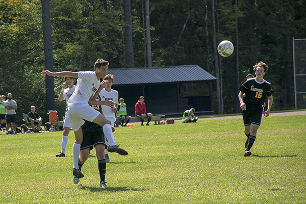 Harwood Union boys' soccer, photo: Jeff Knight