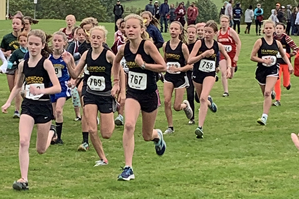 It was all black and gold at the Randolph Invitational on September 14. Both the boys' and girls' middle school teams took first place.
