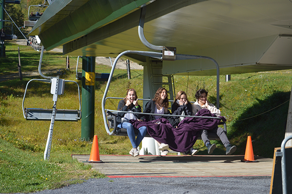Photo: Katie Martin. The Sugar Bravo lift was operating for Harwood seniors on Mountain Day September 27