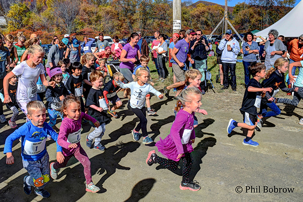 Photo: Phil Bobrow. Get ready, get set, go! And they're off for the Kids' Fun Run during the Mad Dash on Sunday, October 13.