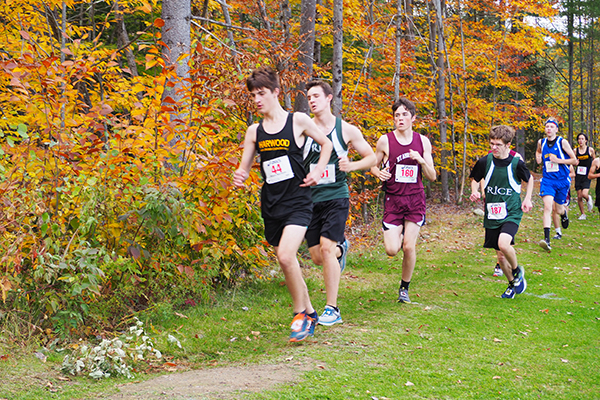 Photo: Ann Zetterstrom. Harwood's Jonah Busker placed 14th in the JV race.