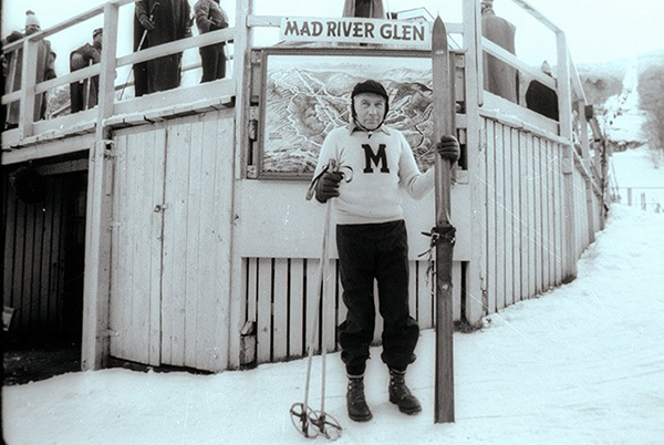 Former Mad River Glen general manager Ken Quackenbush in the early years of the ski area. VR file photo.