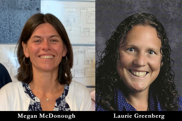 Megan McDonough and Laurie Greenberg will be Harwood Union High School's new co-principals next July.