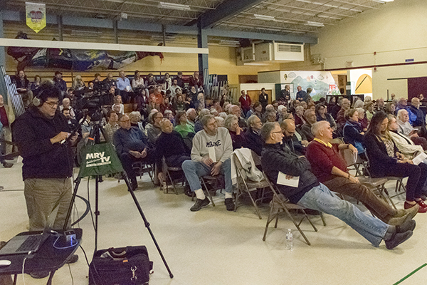 There was a full house at the Waitsfield Town Meeting. Photo: Jeff Knight.