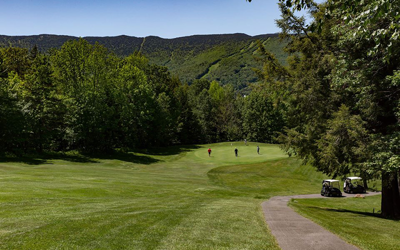 Sugarbush is waiting on a May 15 update of the Vermont Stay Home, Stay Safe order to finalize the opening of the golf course and other summer activities.  Photo courtesy of Sugarbush Resort.