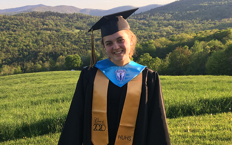 The Valley Reporter's Harwood correspondent, Amelia Allen, a 2020 graduate, is headed to UVM this fall to study nursing