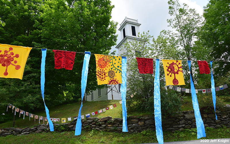 Warren Prayer Flags for the Fourth of July