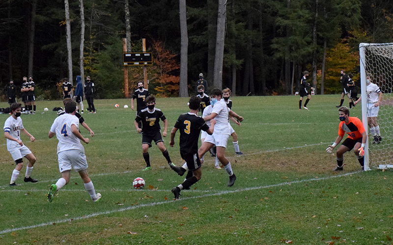 Harwood boys win home opener against Lamoille 4-0. Photo; Jeff Knight
