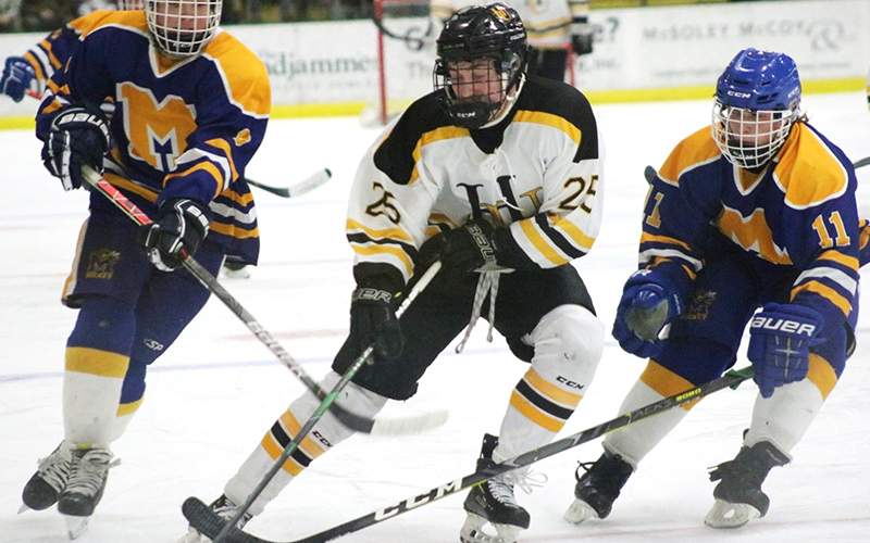 Harwood's Finn O'Hara scored his 100th team goal this week. File photo from 2020 D2 Championships