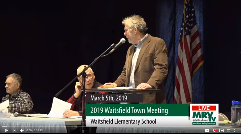 2019 Waitsfield Town Meeting