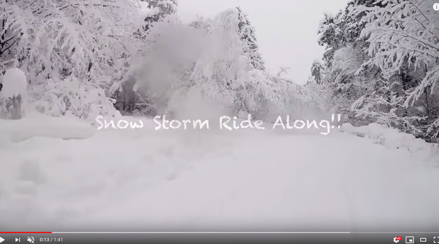 Snow Storm Ride Along!