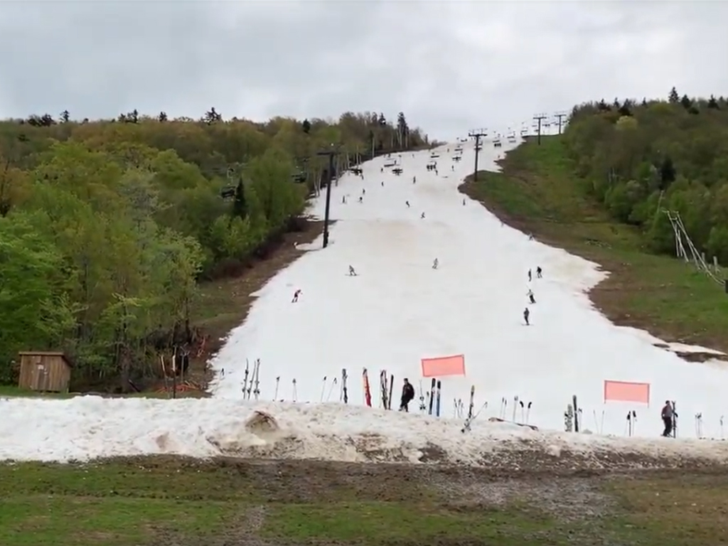 Skiing Vermont in June!